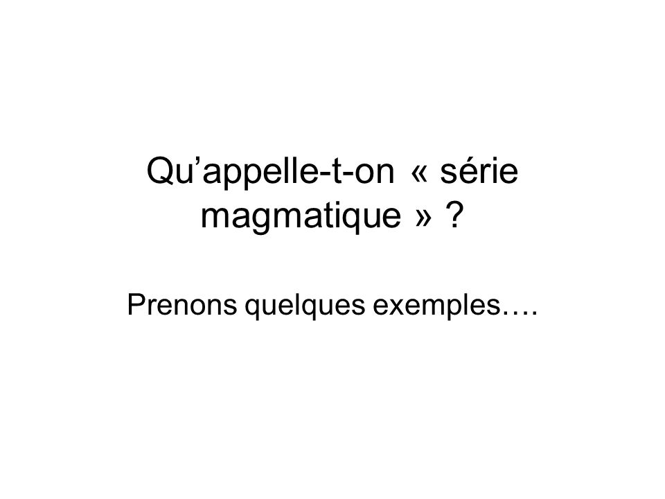 Le magmatisme dextension océanique B.