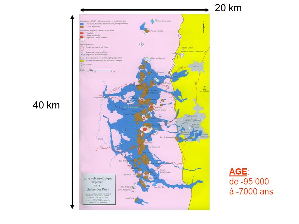 40 km 20 km AGE: de -95 000 à -7000 ans