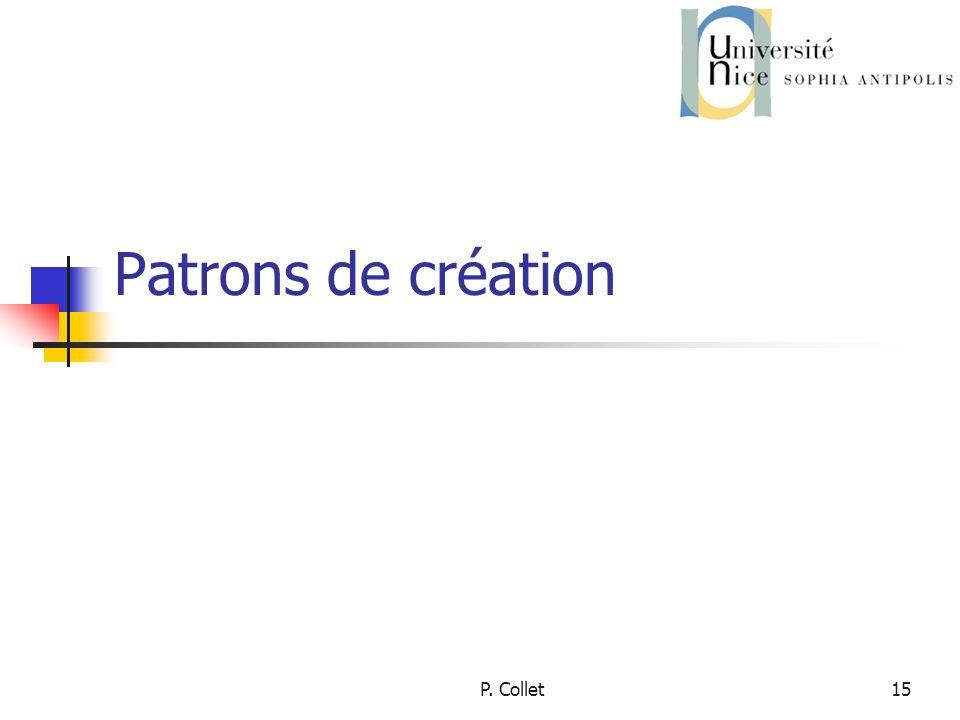 P. Collet15 Patrons de création