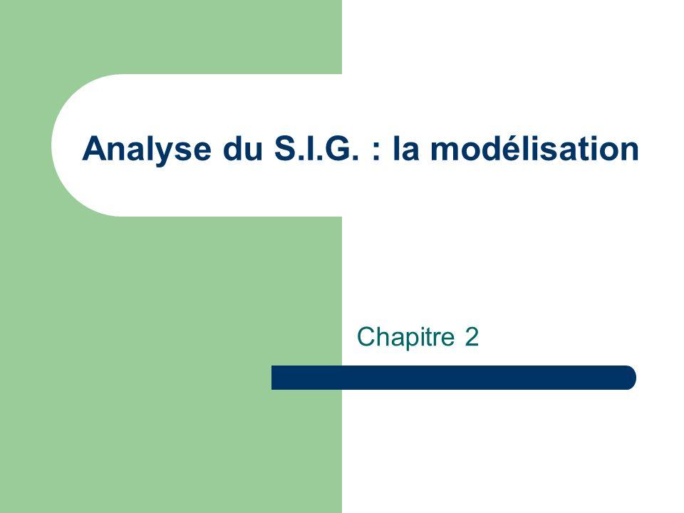 Analyse du S.I.G. : la modélisation Chapitre 2