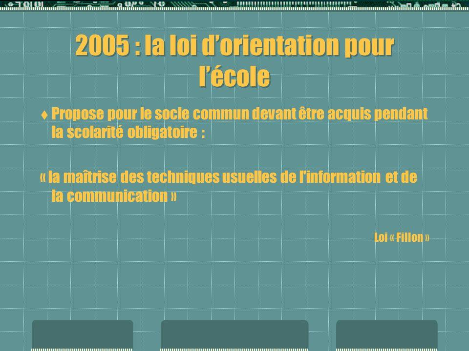 1997 rapport du MEN : 5% des élèves de 2nde seulement peuvent sinscrire à loption Informatique, soit 20 000 sur 410 000, par manque de moyens.