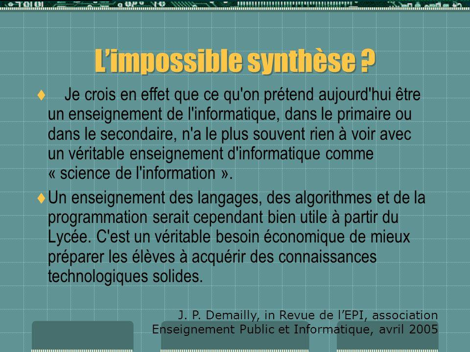 Lanalyse de J. P. DEMAILLY P r. à lUniversité de Grenoble 1, Dr de lInstitut Fourier, membre de lAcadémie des Sciences S'agit-il seulement d'initier l