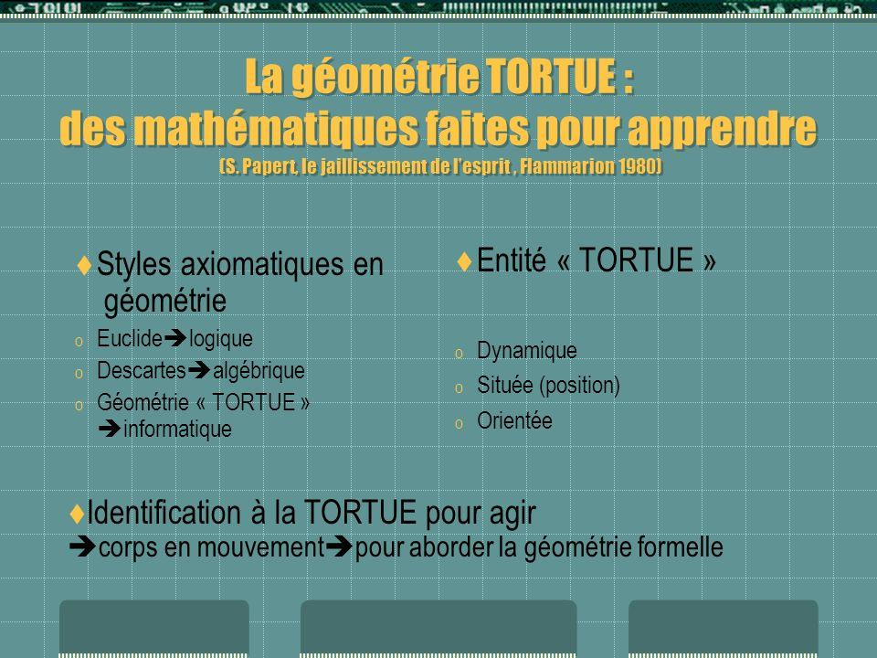 La géométrie TORTUE : des mathématiques faites pour apprendre (S.