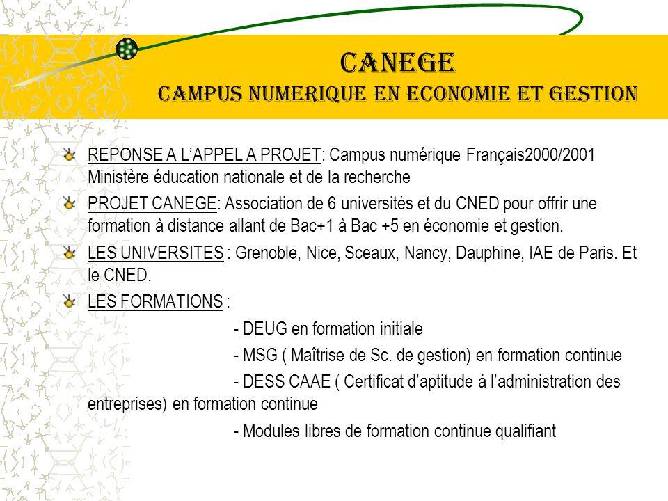 Le projet CANEGE vise Une demande sur le marché avec des effectifs élevés.