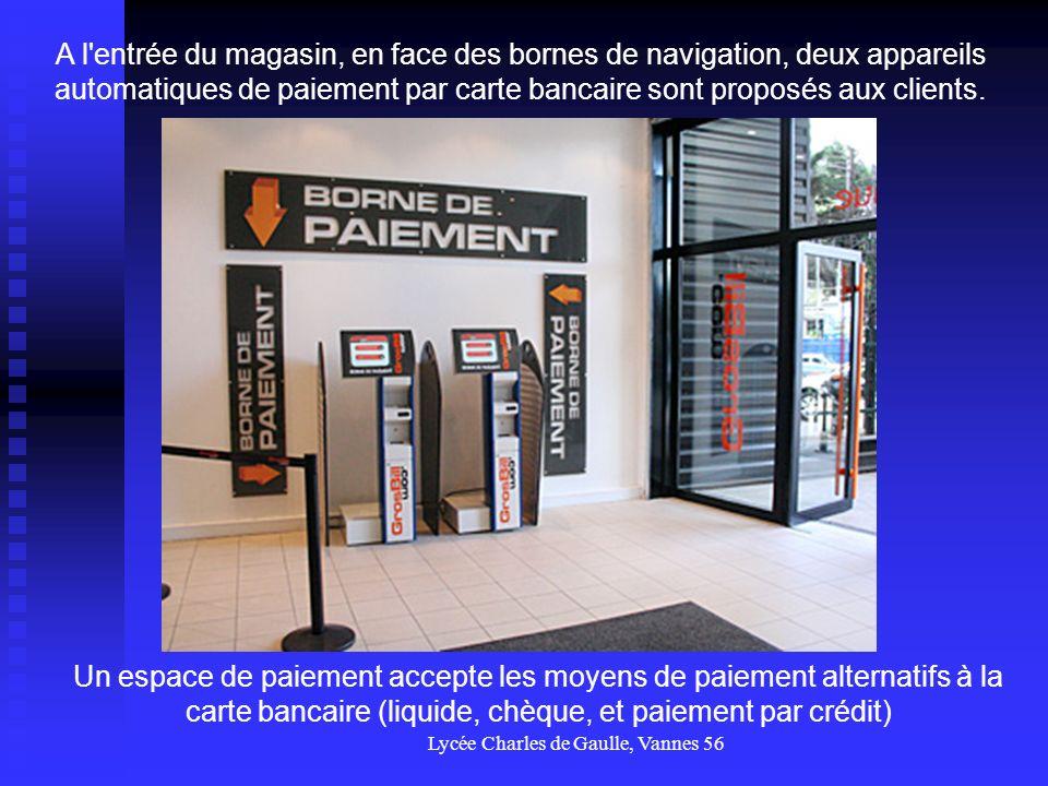 Lycée Charles de Gaulle, Vannes 56 La boutique est aussi conçue pour être un lieu de présentation des produits.