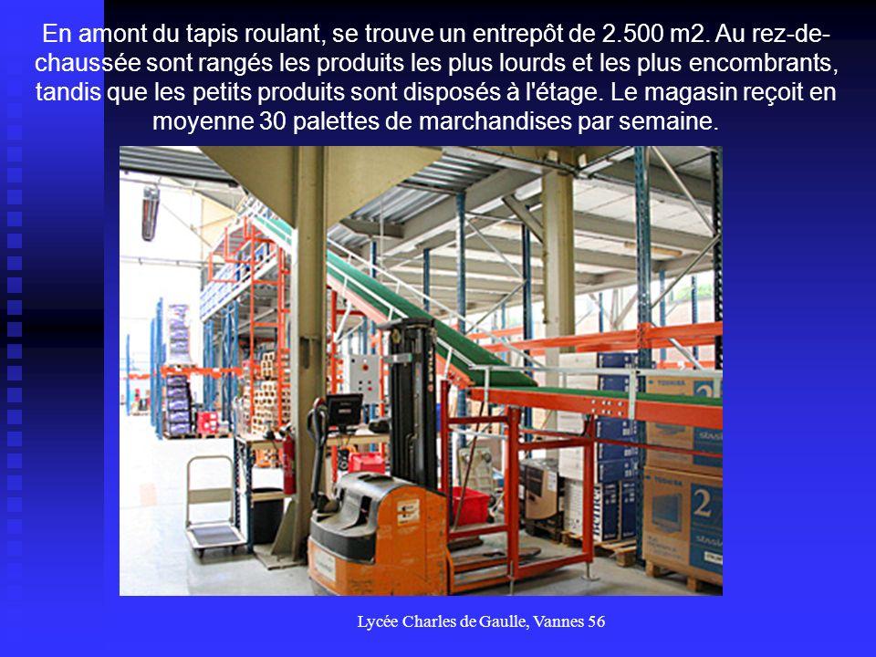 Lycée Charles de Gaulle, Vannes 56 5 collaborateurs s occupent de la préparation des commandes, et 7 autres gérent la relation client dans le magasin.