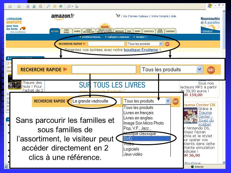 Lycée C de Gaulle - Vannes 56 000 Sans parcourir les familles et sous familles de lassortiment, le visiteur peut accéder directement en 2 clics à une