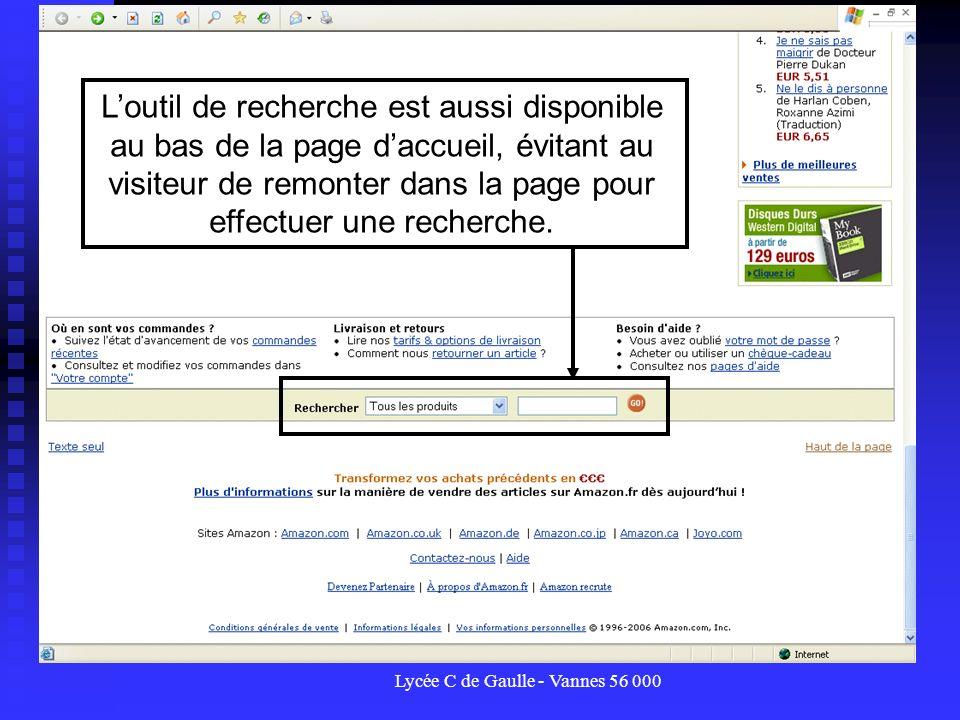 Lycée C de Gaulle - Vannes 56 000 Loutil de recherche est aussi disponible au bas de la page daccueil, évitant au visiteur de remonter dans la page po
