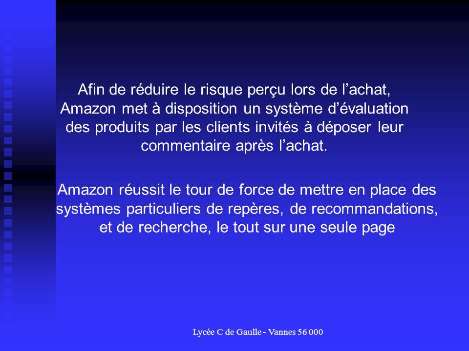 Lycée C de Gaulle - Vannes 56 000 Afin de réduire le risque perçu lors de lachat, Amazon met à disposition un système dévaluation des produits par les