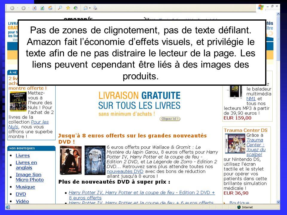 Lycée C de Gaulle - Vannes 56 000 Pas de zones de clignotement, pas de texte défilant. Amazon fait léconomie deffets visuels, et privilégie le texte a