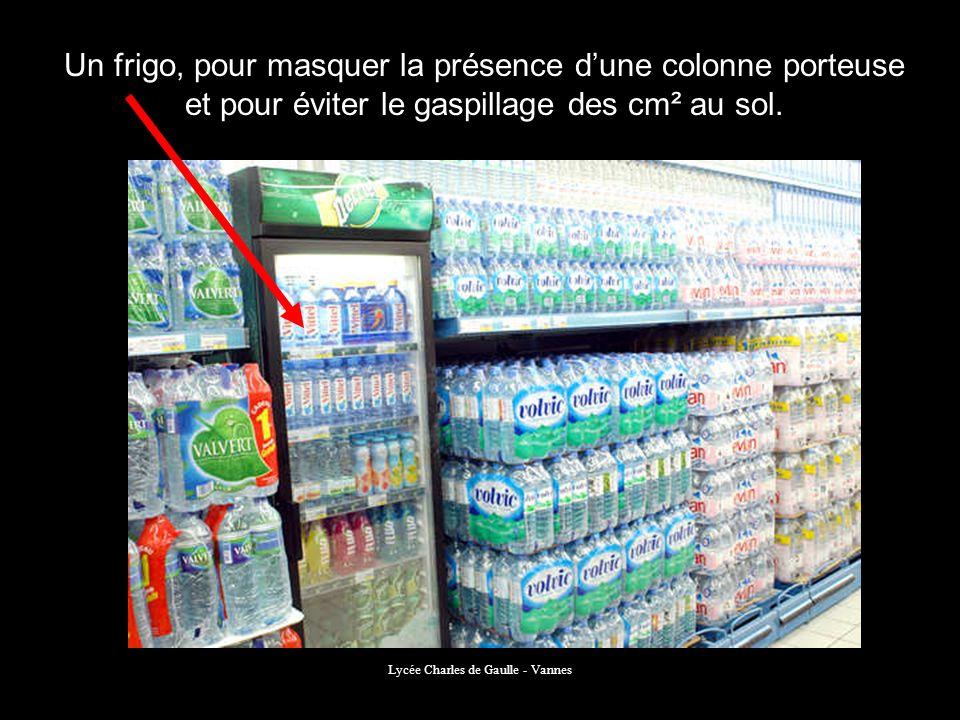 Lycée Charles de Gaulle - Vannes Un frigo, pour masquer la présence dune colonne porteuse et pour éviter le gaspillage des cm² au sol.