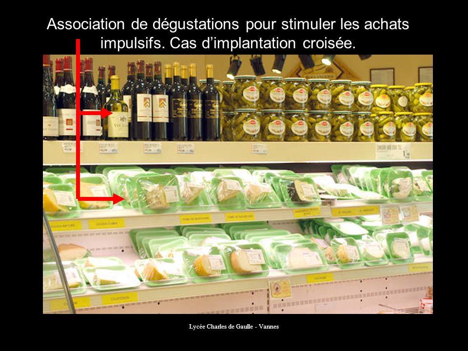 Lycée Charles de Gaulle - Vannes Association de dégustations pour stimuler les achats impulsifs. Cas dimplantation croisée.
