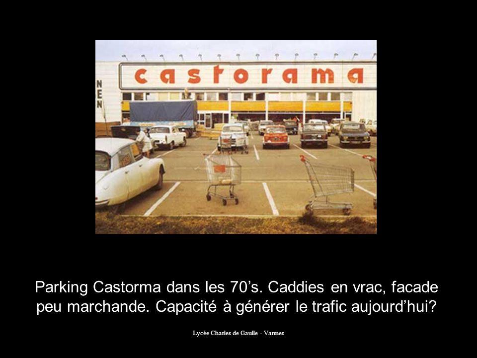 Lycée Charles de Gaulle - Vannes Parking Castorma dans les 70s. Caddies en vrac, facade peu marchande. Capacité à générer le trafic aujourdhui?
