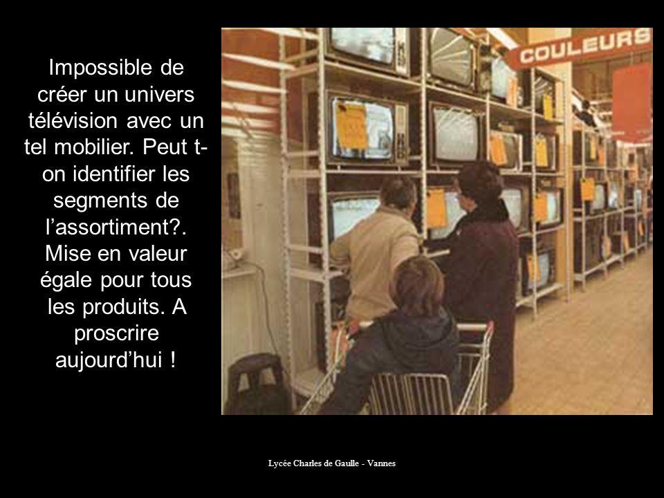 Lycée Charles de Gaulle - Vannes Impossible de créer un univers télévision avec un tel mobilier. Peut t- on identifier les segments de lassortiment?.