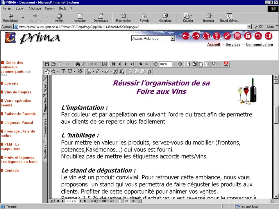 système U - Marketing Centrale Nationale Février 2004
