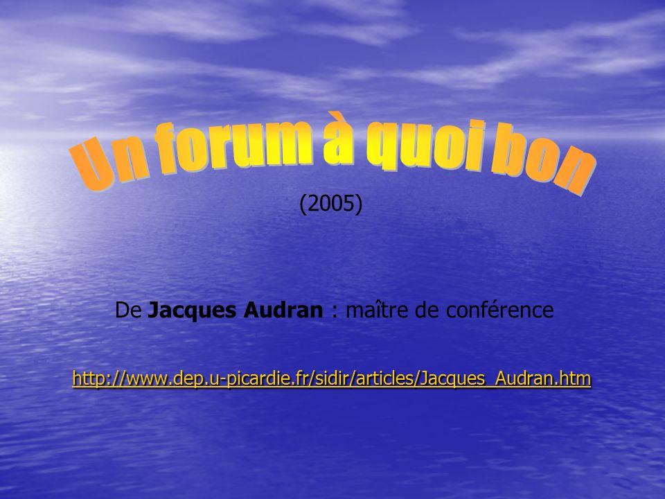 Introduction Quest-ce quun « forum » .