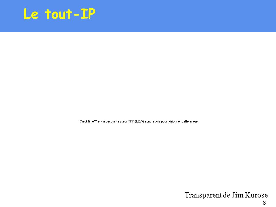 88 Le tout-IP Transparent de Jim Kurose