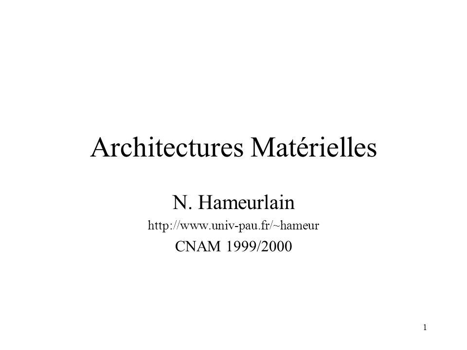 2 Plan Architecture Séquentielle Architecture Parallèle –Motivation –Modèles Multiprocesseurs Multicalculateurs