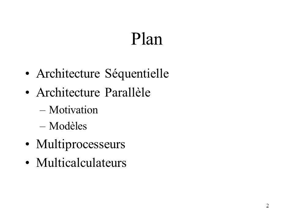 3 Architecture séquentielle: de von Neuman Ordres Processeur Instructions Données Mémoire Unité de Contrôle Unité de Traitement Données