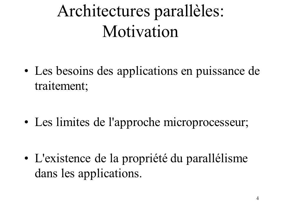 15 Le Modèle Vectoriel MISD: Architecture fonctionnelle Processeur Mémoire Ordres UC1 UC n Étage n UT Étage 1 UT Instructions Données
