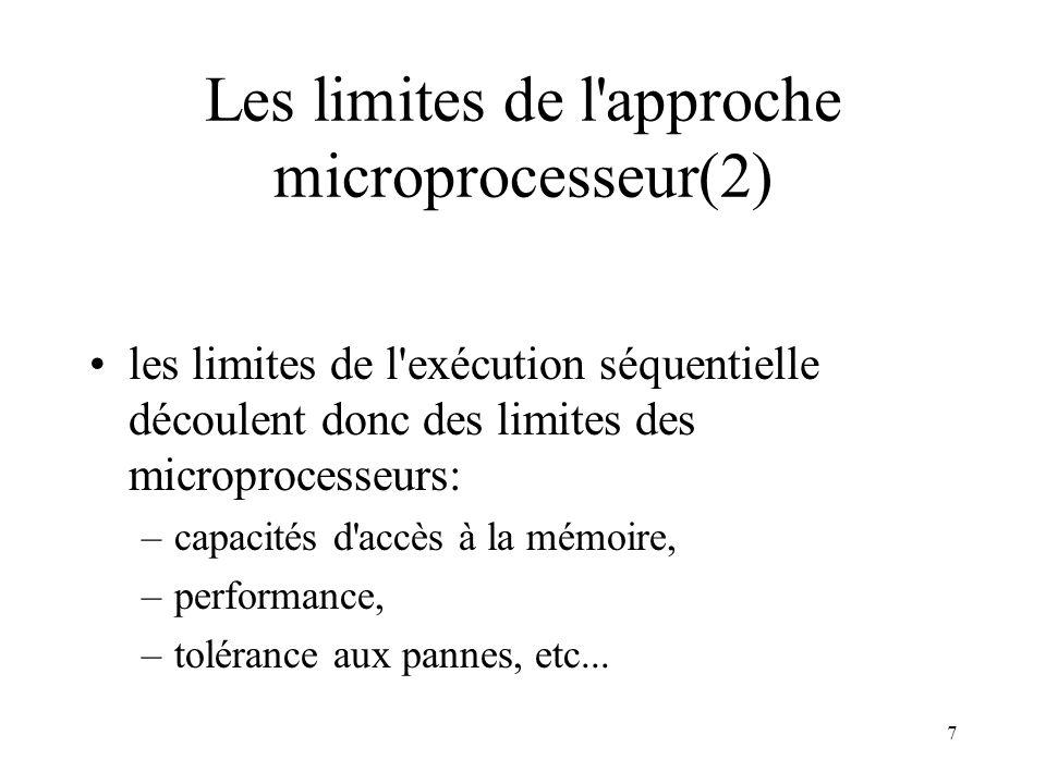 8 La limite de capacités d accès à la mémoire (résolution) Multiplier les bancs mémoire; Rajouter des mécanismes matériels d extension d adressage.
