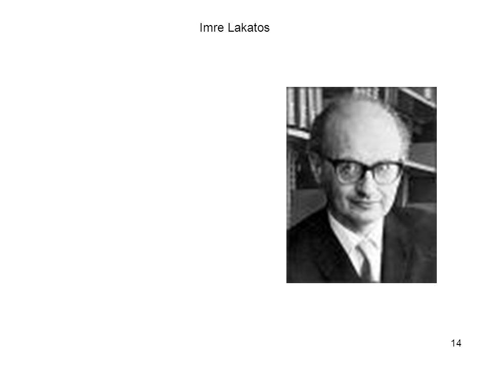 14 Imre Lakatos