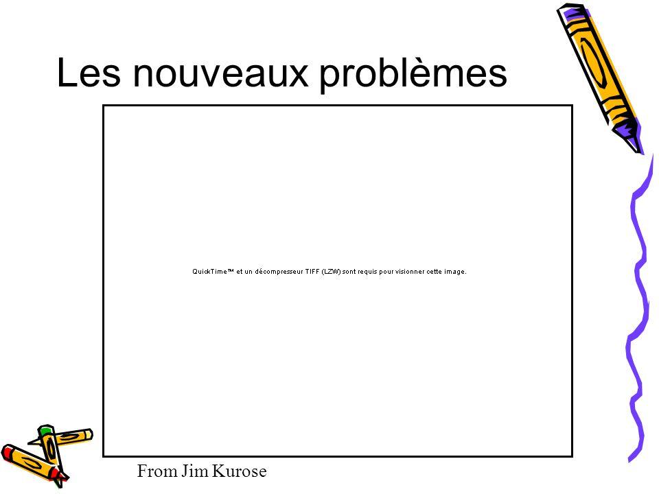 Les nouveaux problèmes From Jim Kurose