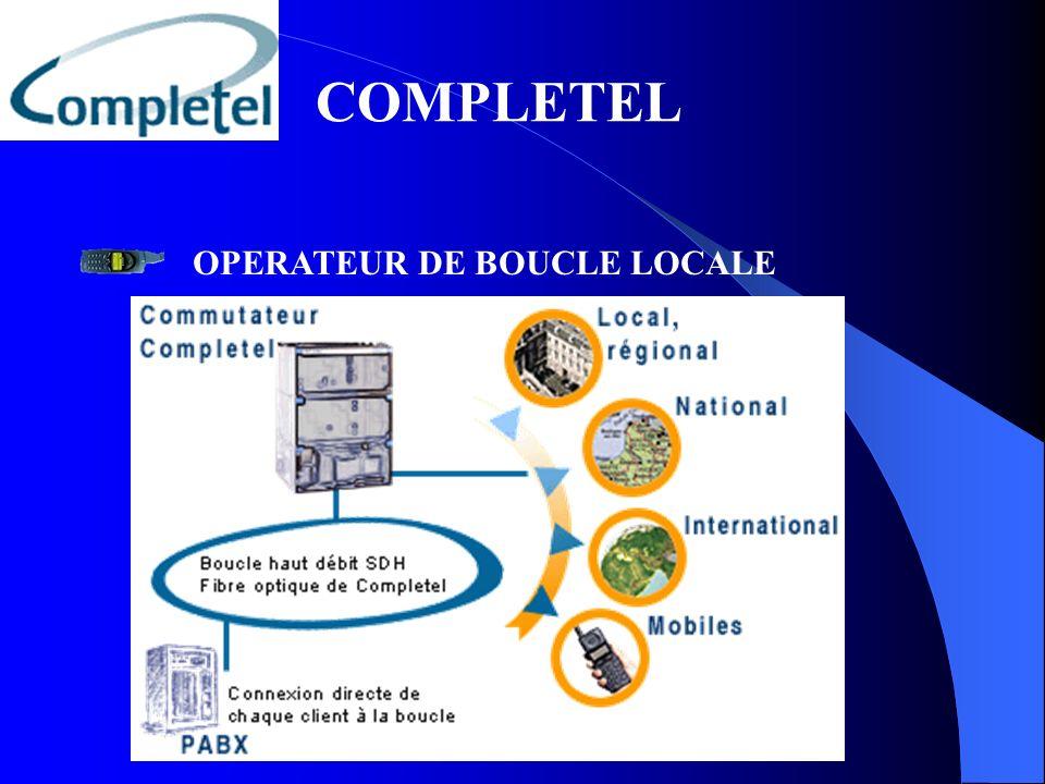 COMPLETEL OPERATEUR DE BOUCLE LOCALE