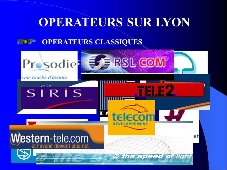 OPERATEURS SUR LYON OPERATEURS CLASSIQUES BELGACOM A TELECOMGLOBAL CROSSING