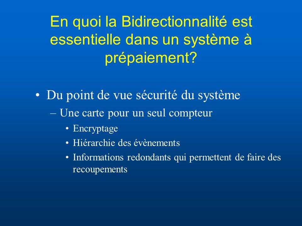 En quoi la Bidirectionnalité est essentielle dans un système à prépaiement.