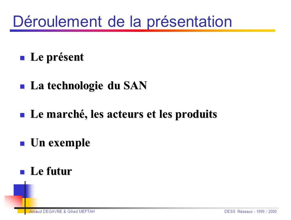Arnaud DEGAVRE & Gihed MEFTAHDESS Réseaux - 1999 / 2000 Réseaux de Stockage à Haut Débit