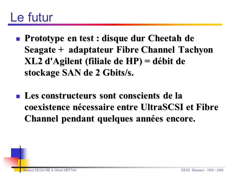 Arnaud DEGAVRE & Gihed MEFTAH DESS Réseaux - 1999 / 2000 Airbus Industrie Choix SAN, parce que : Choix SAN, parce que : il fédère les ressources et l'