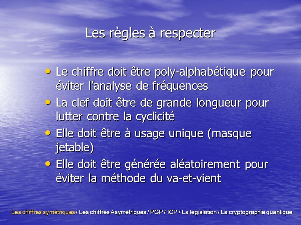 La législation ….