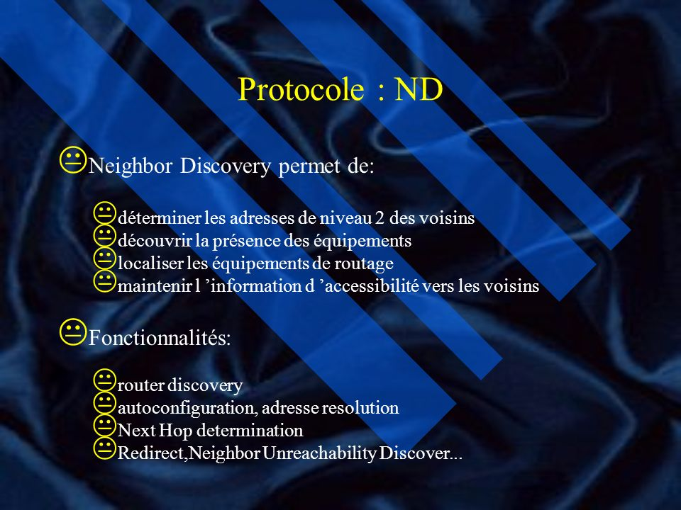 Les Protocoles IPV6 rajoute de nouvelles fonctionnalités : * Autoconfiguration Stateless Address Autoconfiguration DHCPv6 : Dynamic Host Configuration