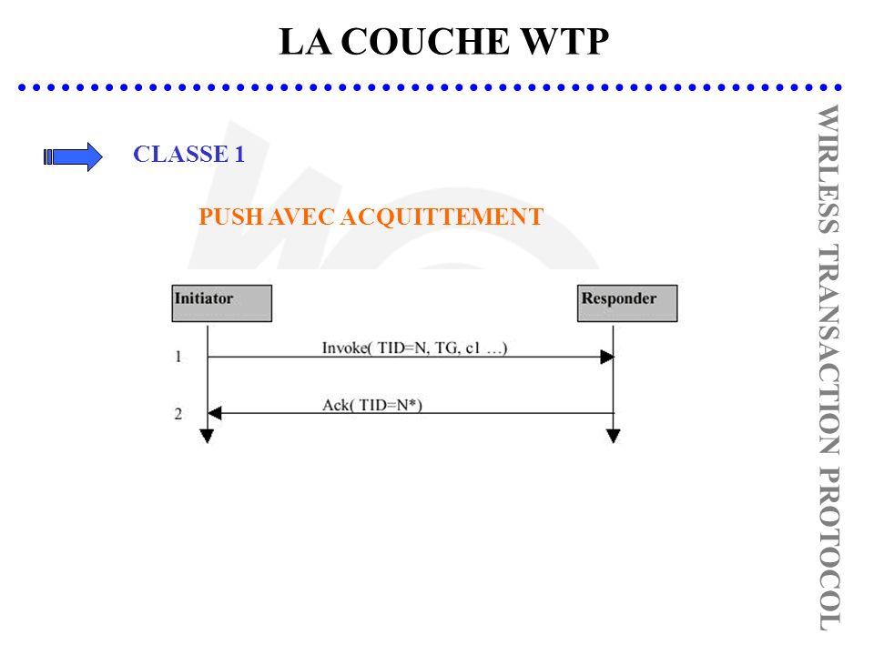 LA COUCHE WTP CLASSE 1 PUSH AVEC ACQUITTEMENT WIRLESS TRANSACTION PROTOCOL