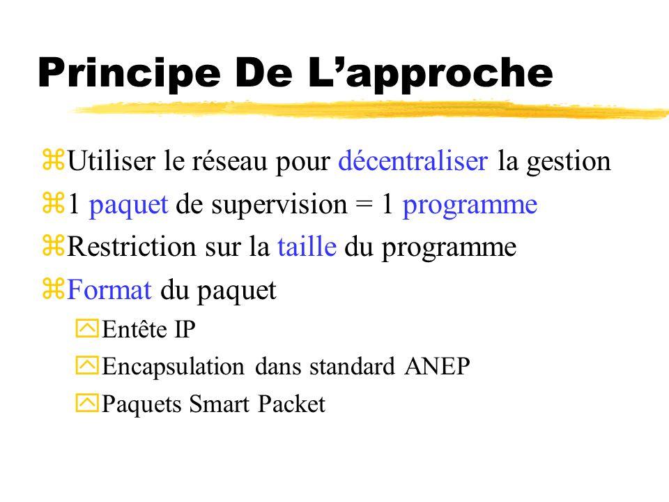 Principe De Lapproche zUtiliser le réseau pour décentraliser la gestion z1 paquet de supervision = 1 programme zRestriction sur la taille du programme