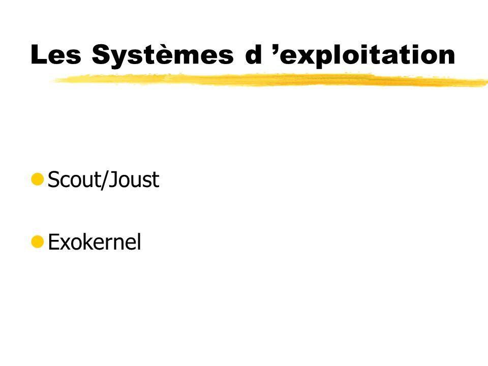 Les Systèmes d exploitation lScout/Joust lExokernel