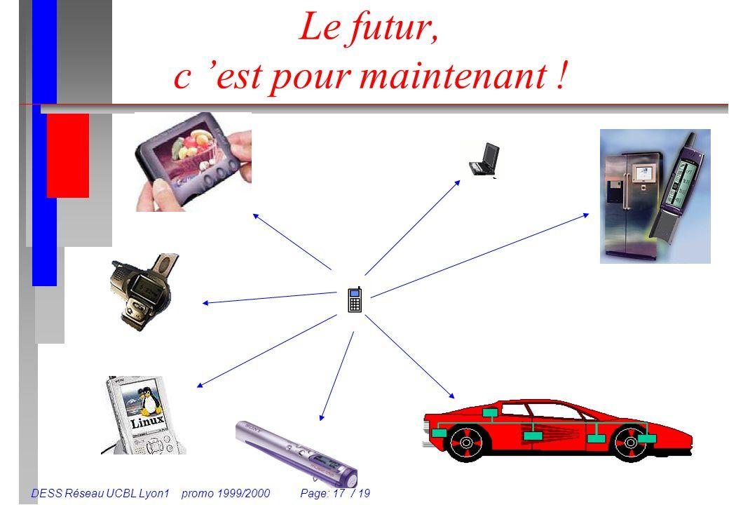 DESS Réseau UCBL Lyon1 promo 1999/2000 Page: 17 / 19 Le futur, c est pour maintenant !