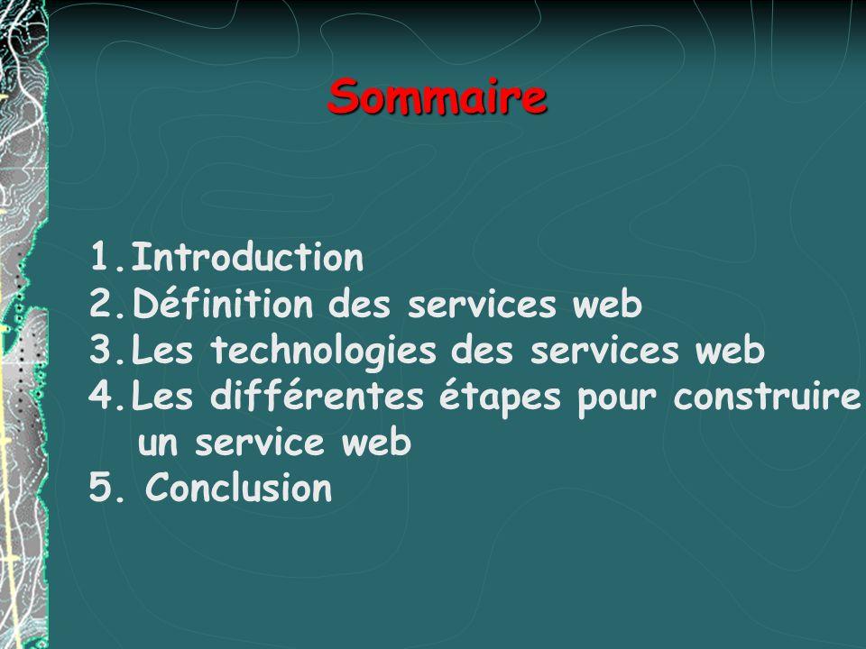 Architecture des Services Web LArchitecture Web Services met en œuvre conjointement les trois standards SOAP, WSDL et UDDI SOAP : Simple Object Access Protocol Protocole de type RPC utilisant XML pour la structuration de ses messages Initialement proposé par Microsoft, désormais géré par le W3C WSDL : Web Service Description Language Il faut être capable de décrire de manière unifiée les services pour pouvoir les invoquer WSDL est une spécification de description des Services Web WSDL est un complément de SOAP (peut être vu comme lIDL de CORBA)