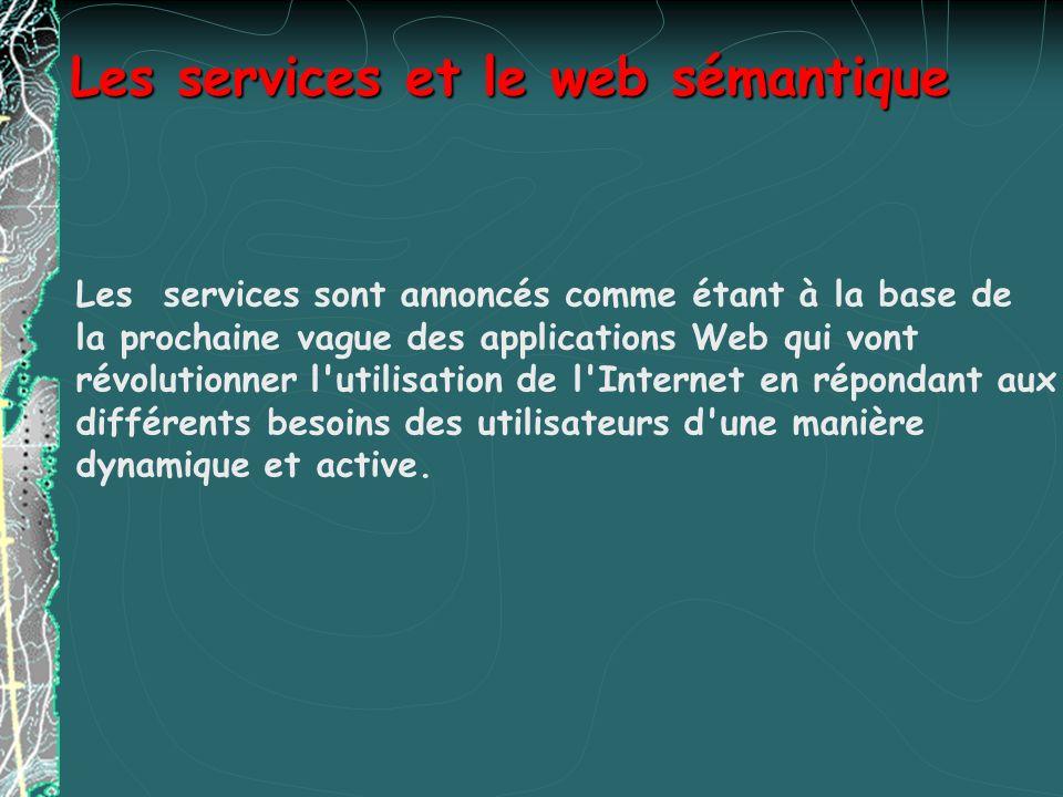 Définition dun service web Définition dun service web Ce sont des applications modulaires basées sur Internet qui exécutent des tâches précises et qui respectent un format spécifique