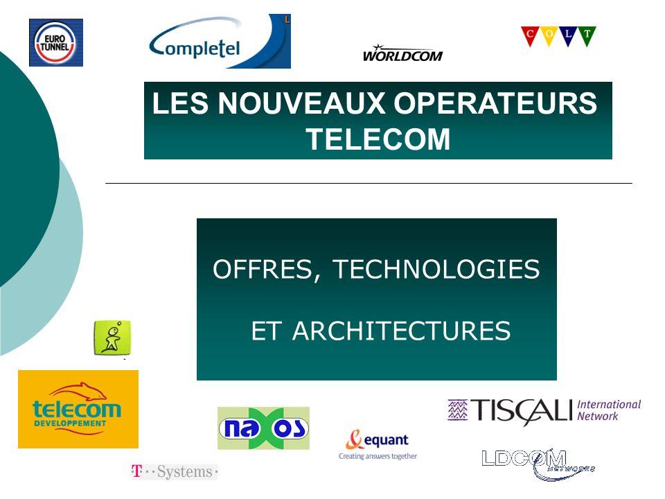 Nouveaux opérateurs télécom LDCom : offres Fibres Optiques noires Services IP et Ethernet facturés au débit (VLAN, connexions point à point…) Offre spécifique opérateurs : Interco@co fédération de connexion au reseau France Télécom.