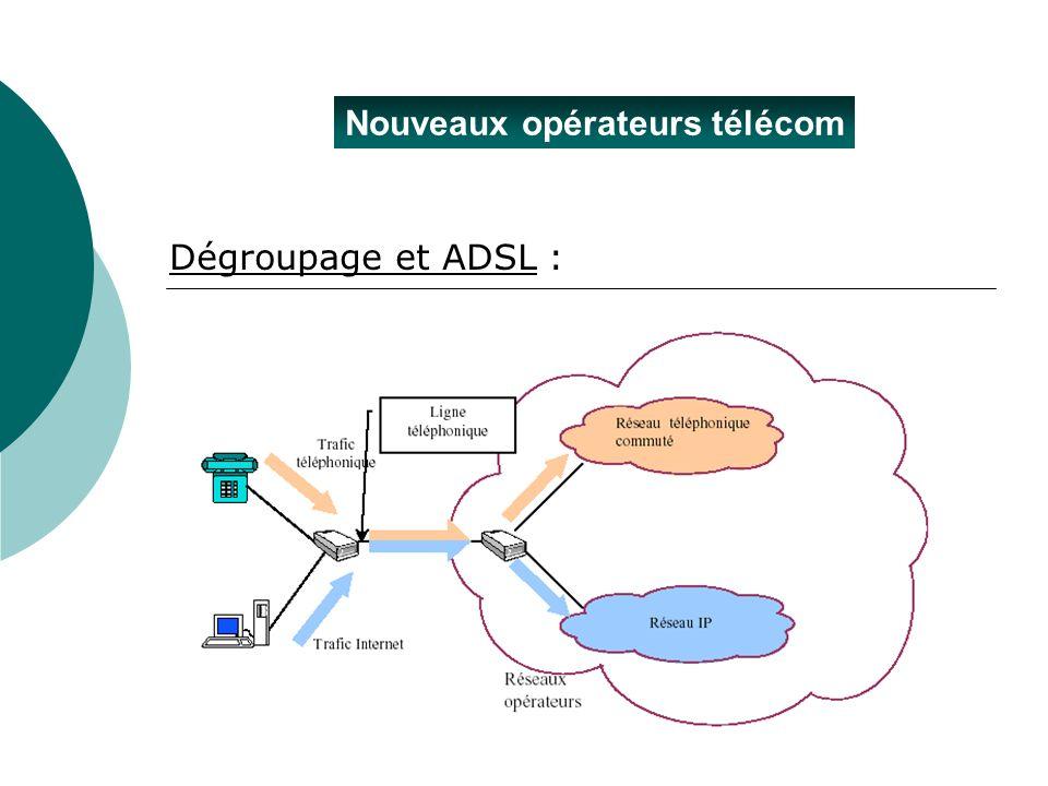 Nouveaux opérateurs télécom Dégroupage et ADSL :