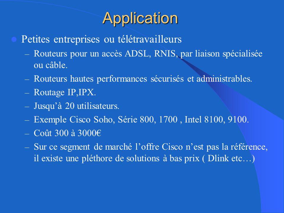 Application Moyennes et grandes entreprises – Les routeurs de bordure (edge routers ) – Routeurs daccès multiservice.