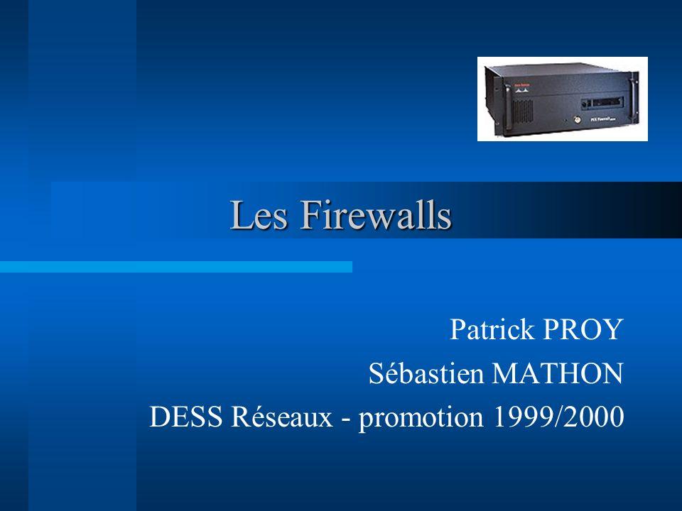 Plan de la présentation Besoins Stratégies Quest-ce quun firewall ? Marché Techniques de filtrage
