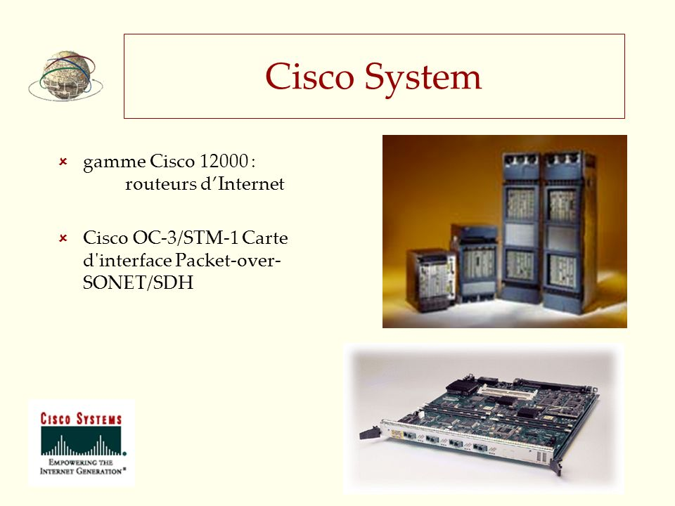 Cisco System gamme Cisco 12000 : routeurs dInternet Cisco OC-3/STM-1 Carte d'interface Packet-over- SONET/SDH