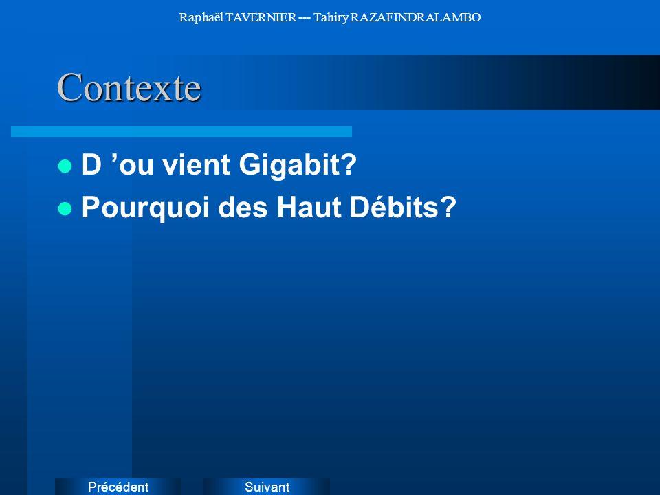 SuivantPrécédent Raphaël TAVERNIER --- Tahiry RAZAFINDRALAMBOContexte D ou vient Gigabit? Pourquoi des Haut Débits? Instructions: Supprimez les exempl