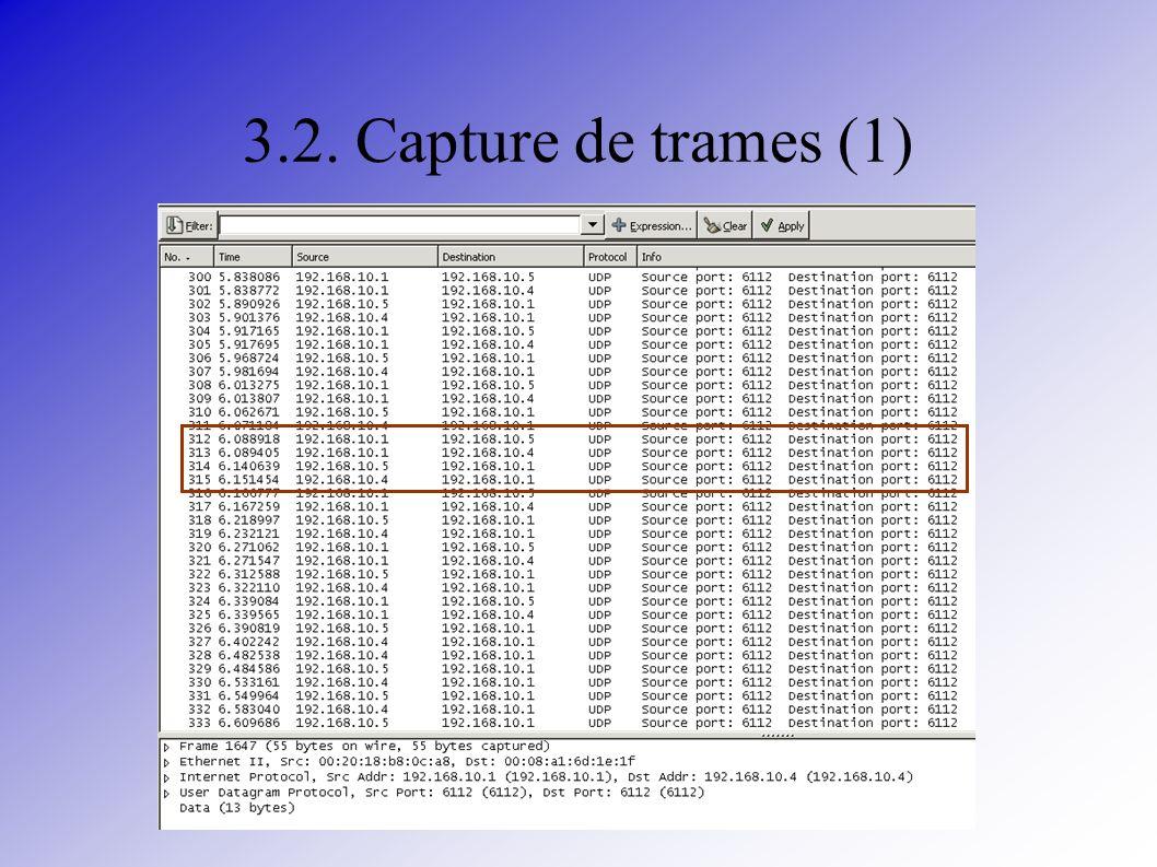 3.2. Capture de trames (1)