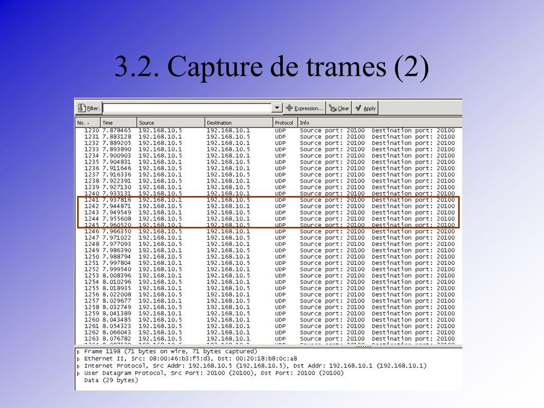 3.2. Capture de trames (2)