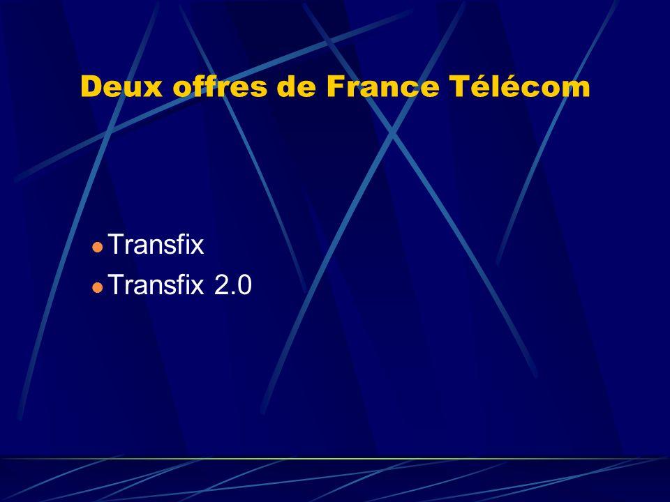 Deux offres de France Télécom Transfix Transfix 2.0
