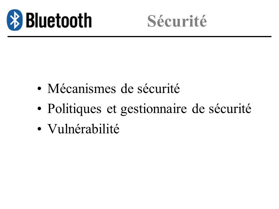 Sécurité Mécanismes de sécurité Politiques et gestionnaire de sécurité Vulnérabilité